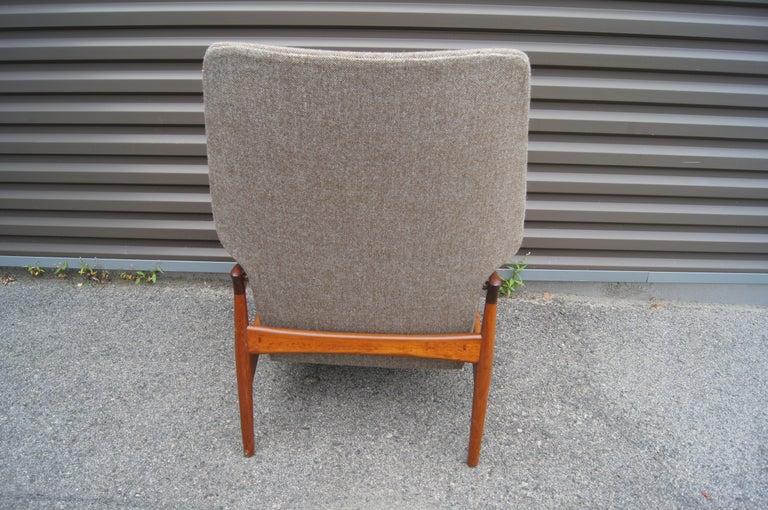 Mid-20th Century Reclining Teak Lounge Chair by John Boné For Sale