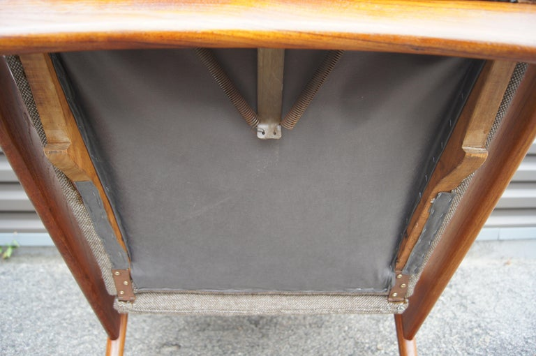 Reclining Teak Lounge Chair by John Boné For Sale 1