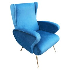 Reclining Wing Chair, Italy, 1960s