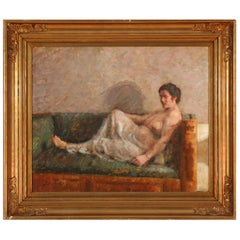 Reclining Woman, by Julius Paulsen