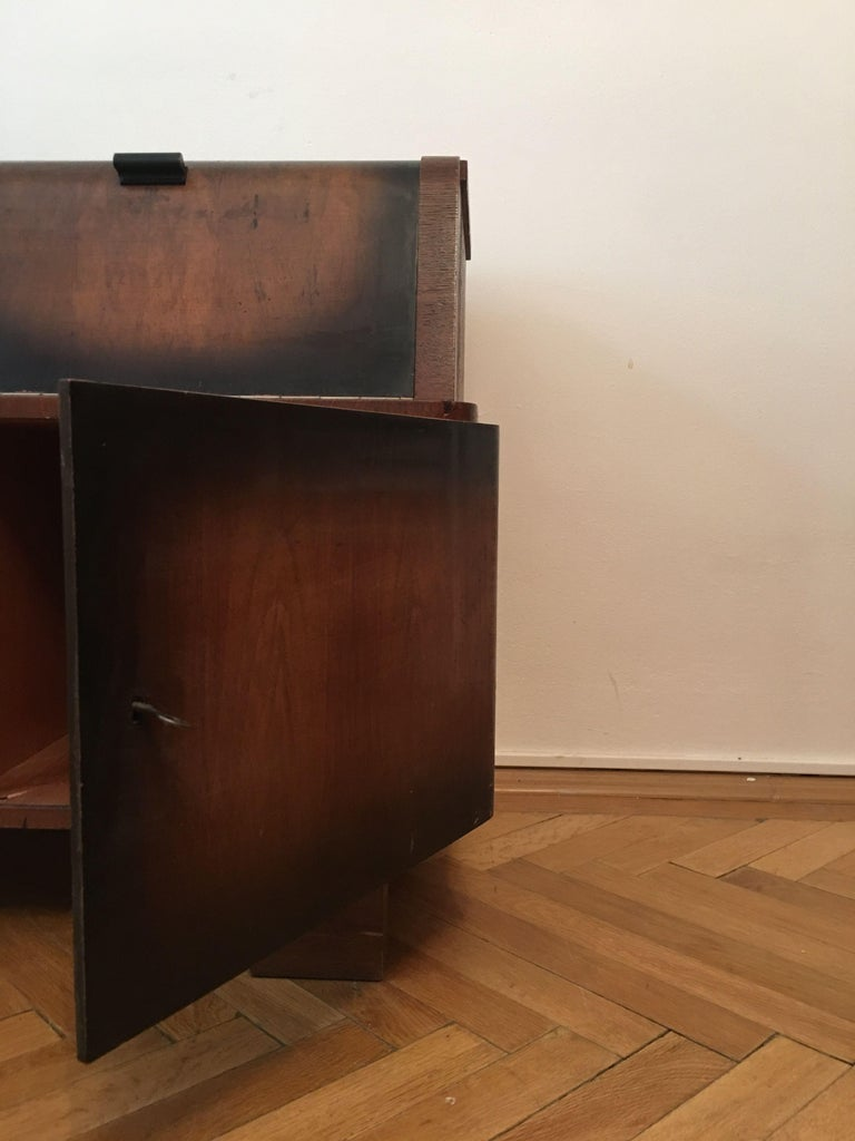 Record Player Cabinet by Jindrich Halabala for Up Zavody, Czechoslovakia, 1930s In Good Condition For Sale In Prague, CZ