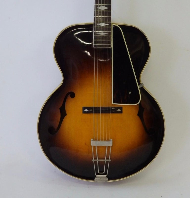 recording king m 5 by gibson pre war arch top sunburst acoustic guitar with case for sale at 1stdibs. Black Bedroom Furniture Sets. Home Design Ideas