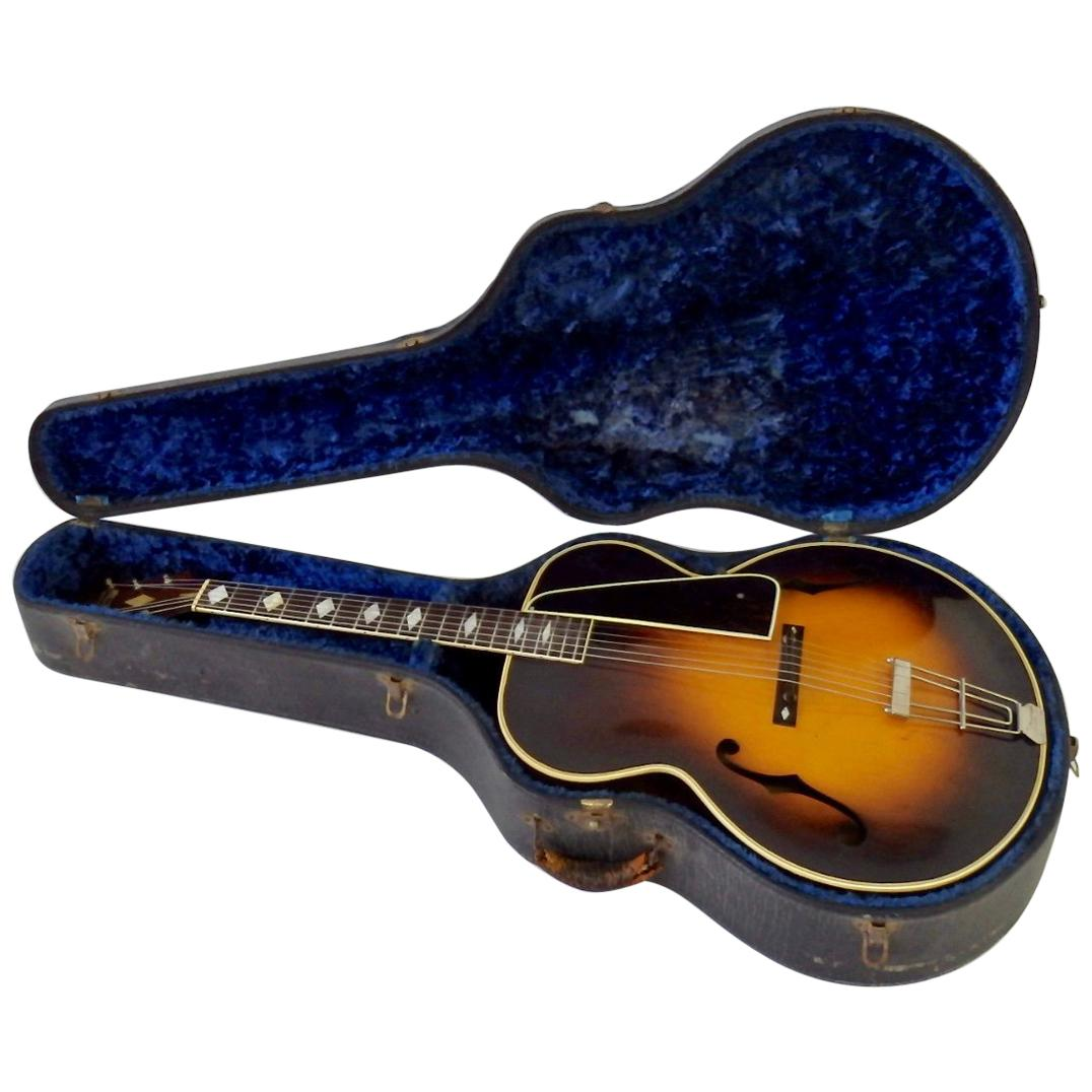 Recording King M-5 by Gibson Pre War Arch Top Sunburst Acoustic Guitar with Case