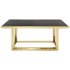 Recta Dining Table in Gold or Chrome Finish