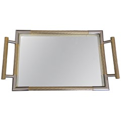 Rectangle Gold Metal Serving Tray