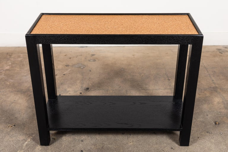 Oak Rectangle Narrow Side Table by Lawson-Fenning For Sale