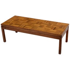 Rectangle Parquet Top Oiled Walnut Coffee Table