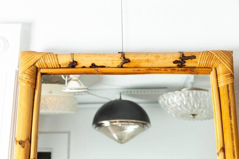 20th Century Rectangular Bamboo Surround Mirror For Sale