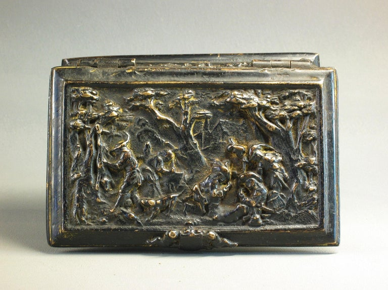 Rectangular Bronze Casket, French, 19th Century In Good Condition For Sale In Ottawa, Ontario