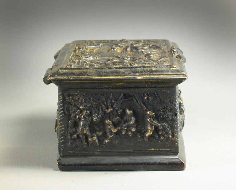 Rectangular Bronze Casket, French, 19th Century For Sale 2
