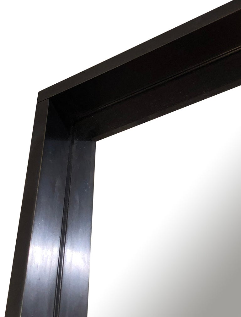 Minimalist WYETH Original Rectangular Mirror in Blackened Bronze For Sale
