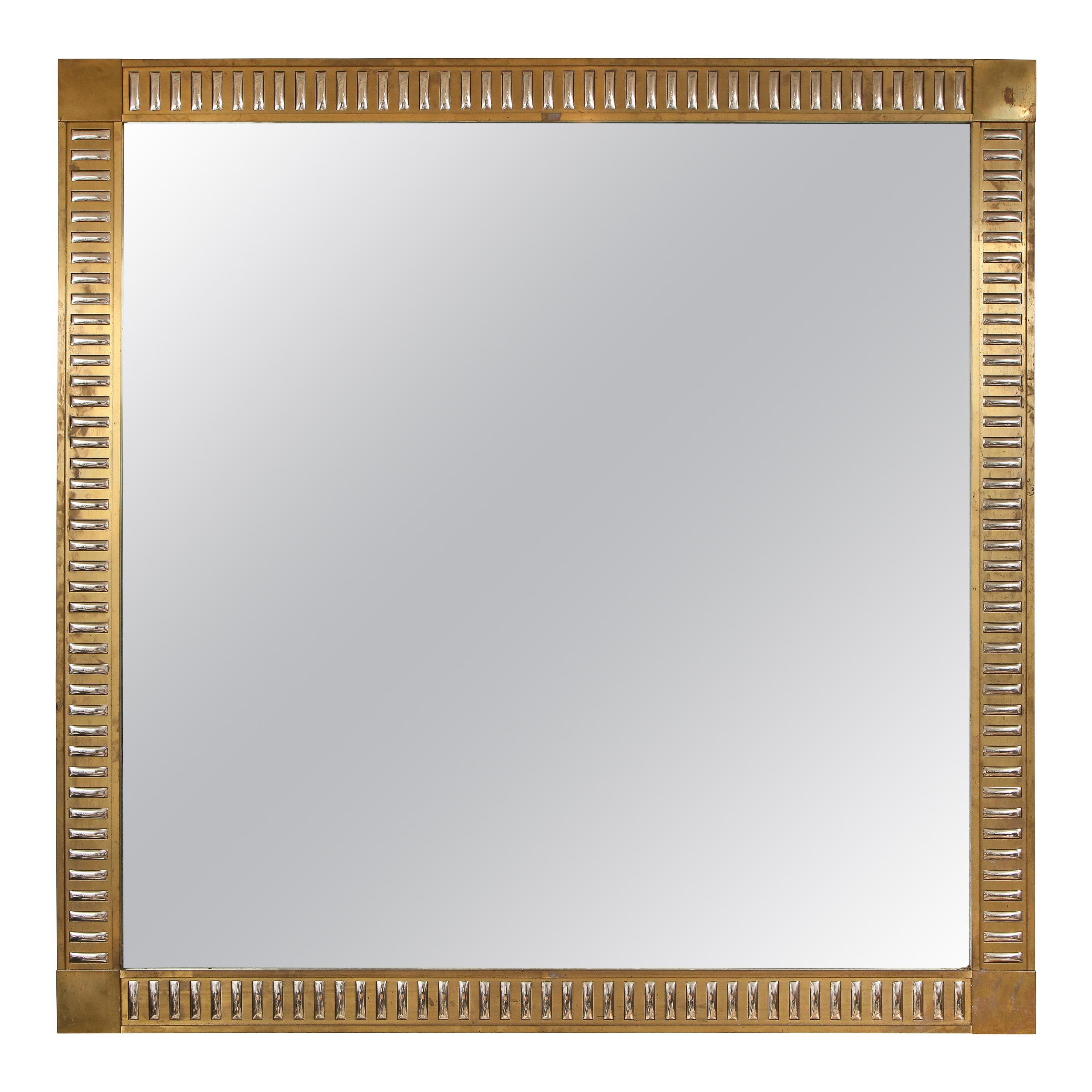Rectangular Bronze Mirror with Mirrored Inserts in the Neoclassic Manner