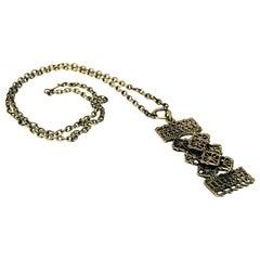 Rectangular Bronze Necklace by Pentti Sarpaneva, Finland, 1960s