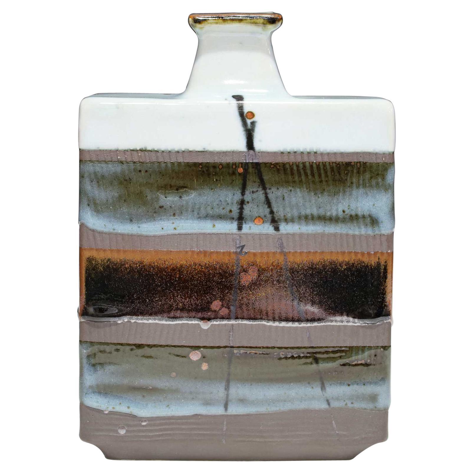 Rectangular Ceramic Vase by Albert Green