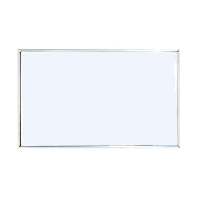 Rectangular Chrome Mirror in the Style of Fabricius Kastholm In Good Condition For Sale In Chicago, IL