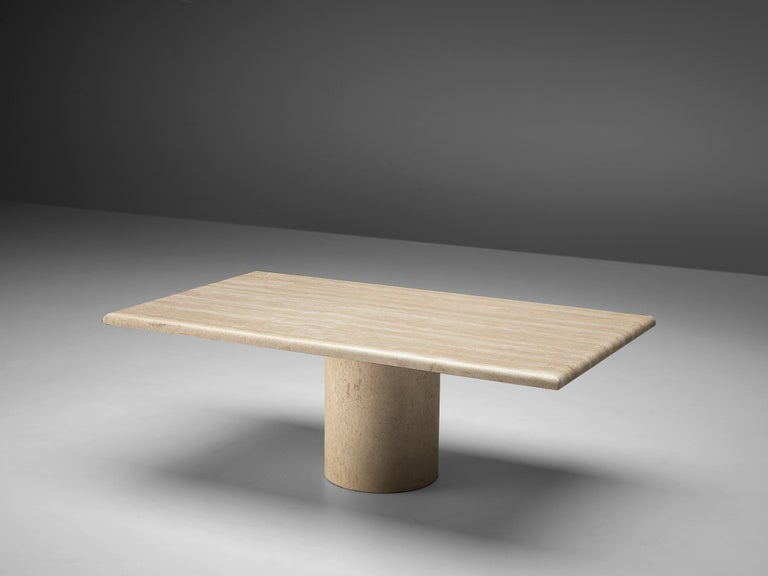Coffee table, travertine, Italy, 1970s