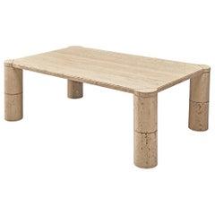 Rectangular Coffee Table in Travertine