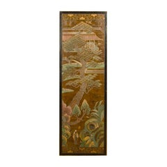 Rectangular Coffee Table with Antique Chinoiserie Decorated Top, 1920