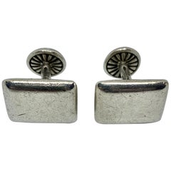 Rectangular Cufflinks in Sterling Silver by Barry Kieselstein-Cord