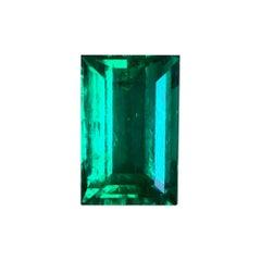 "Rectangular Cut GRS Minor Oil ""Old Mine"" 2.8 Carat Colombian Emerald"