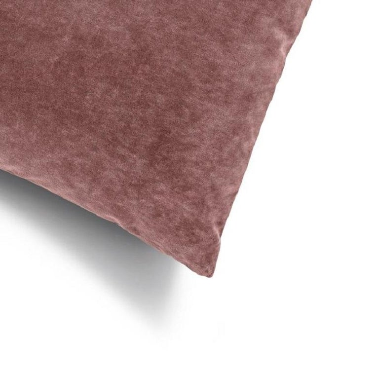 Soft and cozy cotton velvet decorative cushion perfect to create a layered effect on your upholstery interiors   100% Made in Italy Distinctive