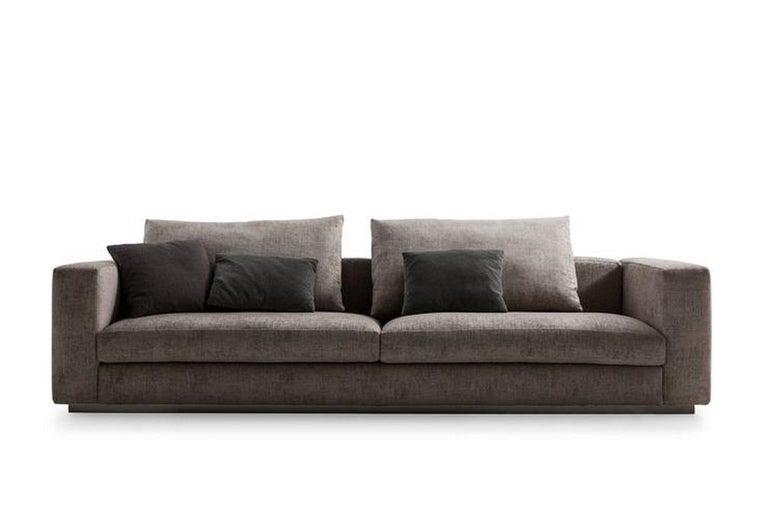 Modern Molteni&C Rectangular Decorative Cushion Dark Grey Velvet For Sale