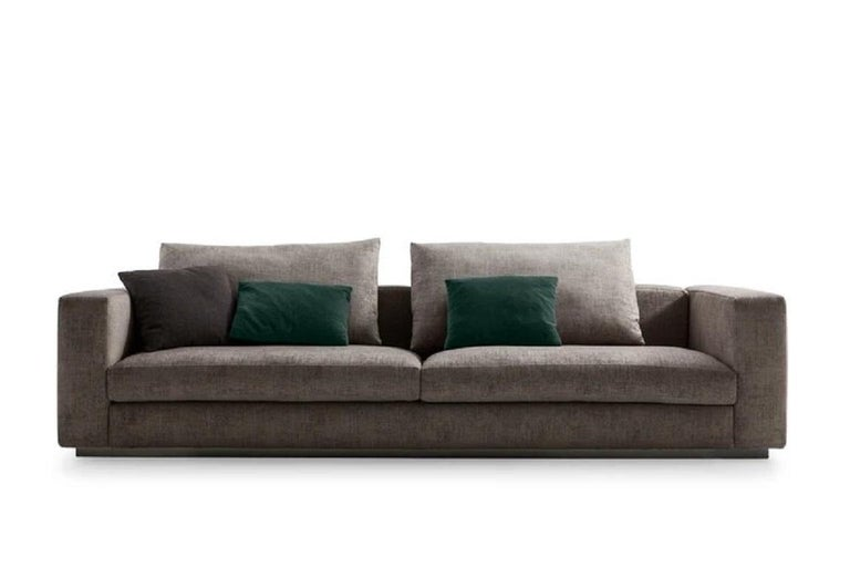 Modern Molteni&C Rectangular Decorative Cushion Dark Green Velvet For Sale