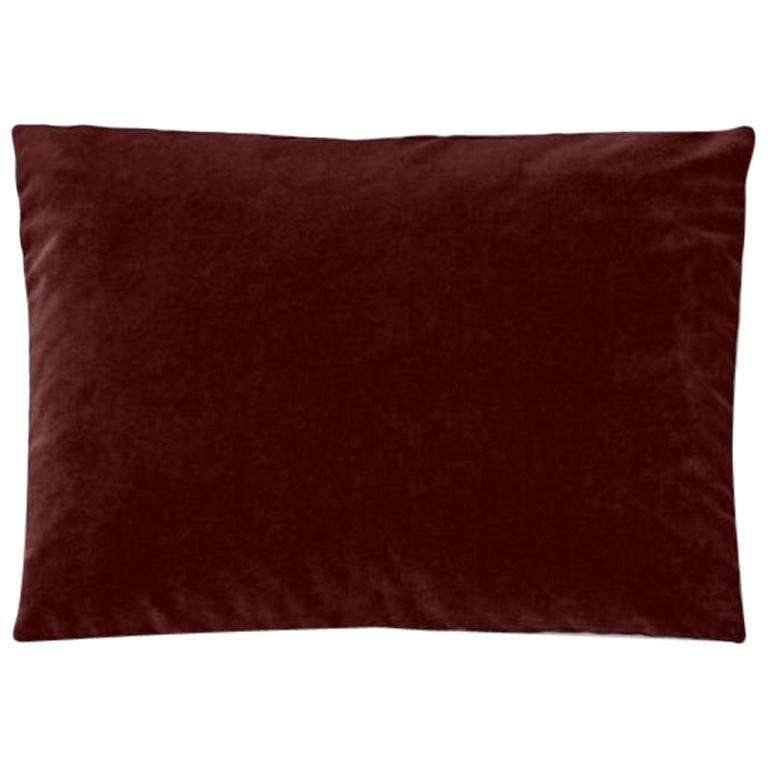 Molteni&C Rectangular Decorative Cushion Red Velvet For Sale