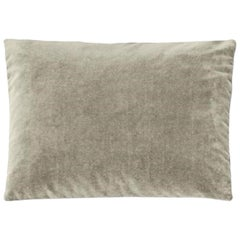 Molteni&C Rectangular Decorative Cushion Light Grey Velvet