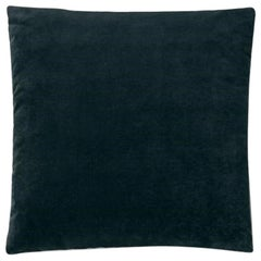 Molteni&C Square Decorative Cushion Dark Blue Velvet