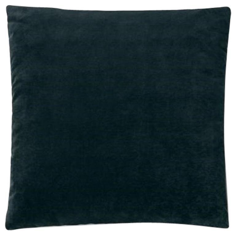 Molteni&C Square Decorative Cushion Dark Blue Velvet For Sale