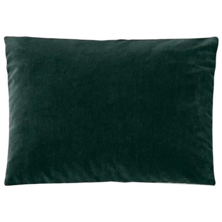 Molteni&C Rectangular Decorative Cushion Dark Green Velvet