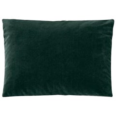 Molteni&C Rectangular Decorative Cushion Dark Green Velvet