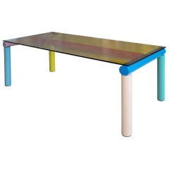 Rectangular Dichroic Glass BOB Dining Table by Isaac Resnikoff, Seats 8