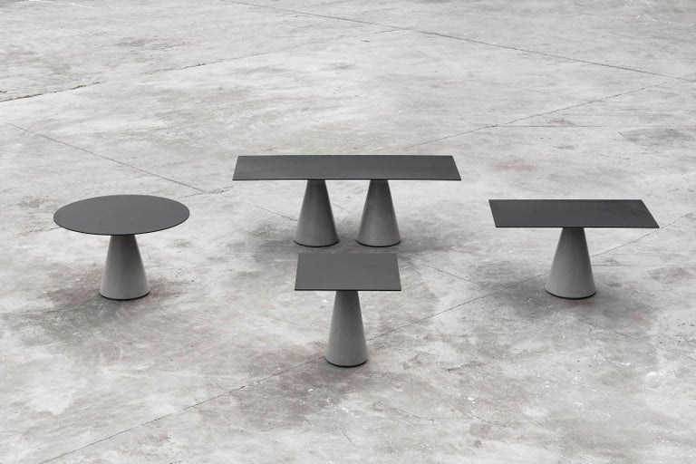 Chinese Rectangular Dining Table 'DING' Made of Concrete and Aluminum For Sale