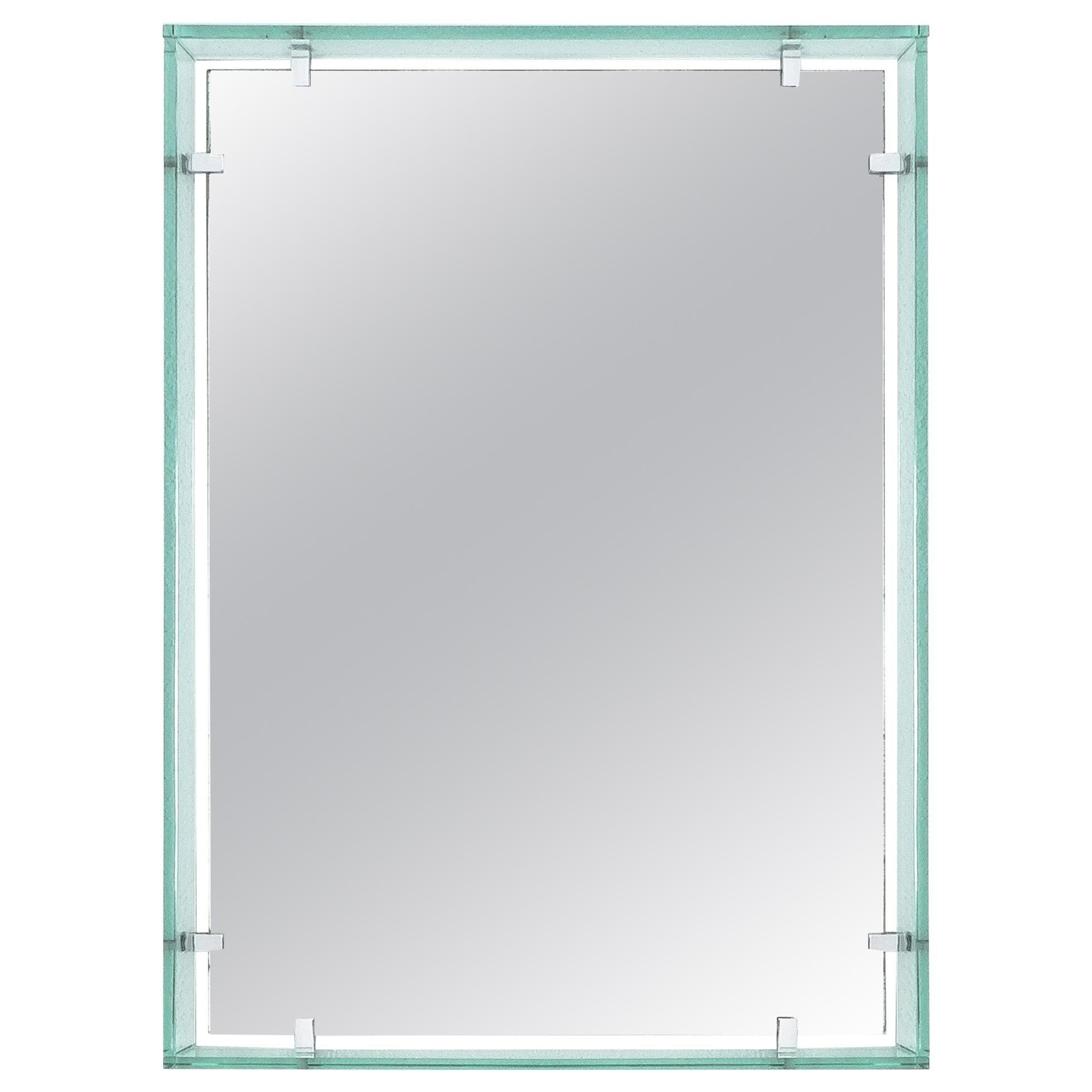 Rectangular Floating Glass Mirror By Fontana Arte Model 2014