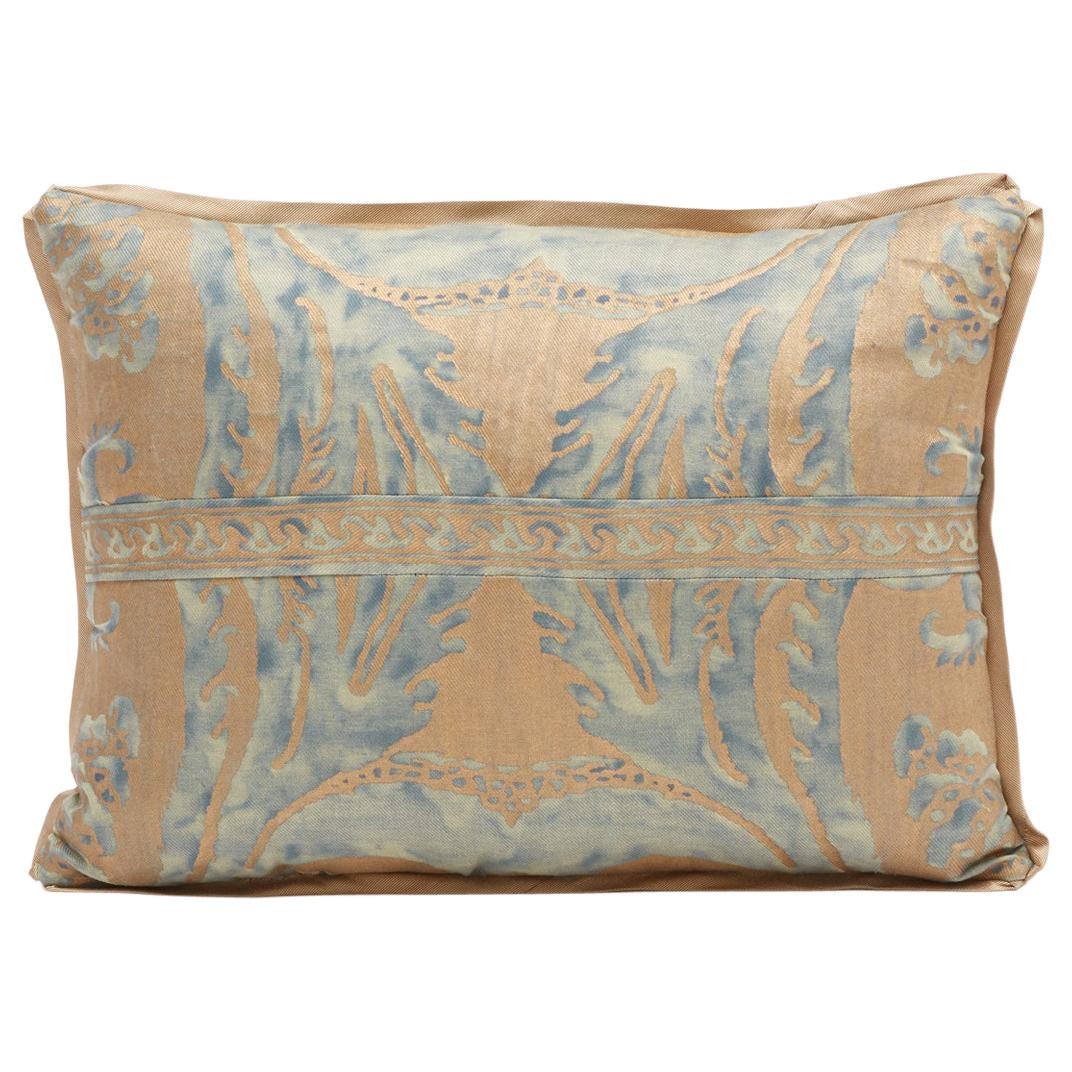 Rectangular Fortuny Fabric Cushion in the Glicine Pattern