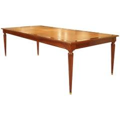Rectangular French Louis XVI Style Mahogany Library Center Table