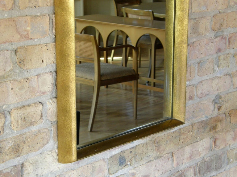 Rectangular Giltwood Wall Mirror with Arched Top For Sale 5