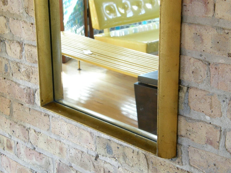 Rectangular Giltwood Wall Mirror with Arched Top For Sale 2