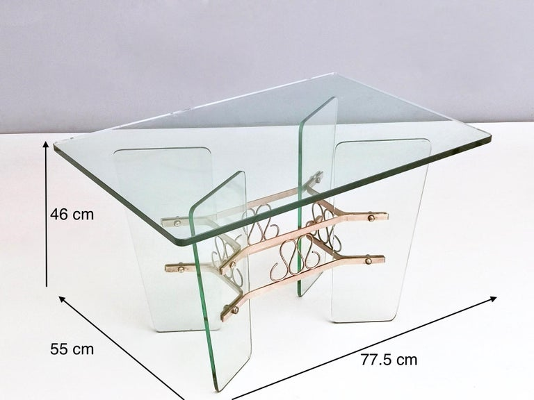 Rectangular Glass Coffee Table by Pietro Chiesa for Fontana Arte, Italy For Sale 4