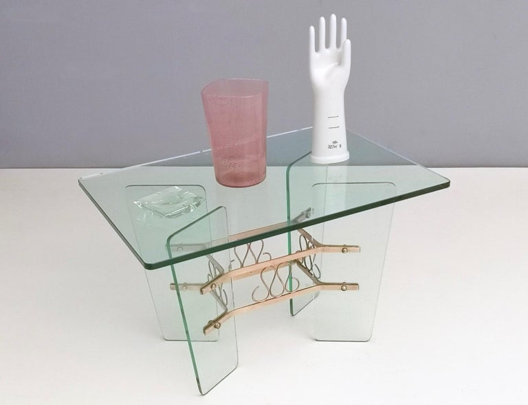 Italian Rectangular Glass Coffee Table by Pietro Chiesa for Fontana Arte, Italy For Sale