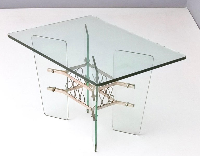 Rectangular Glass Coffee Table by Pietro Chiesa for Fontana Arte, Italy In Good Condition For Sale In Bresso, Lombardy