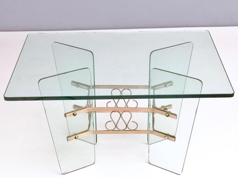 Mid-20th Century Rectangular Glass Coffee Table by Pietro Chiesa for Fontana Arte, Italy For Sale