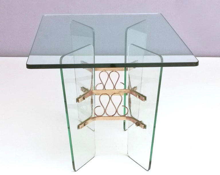 Rectangular Glass Coffee Table by Pietro Chiesa for Fontana Arte, Italy For Sale 1
