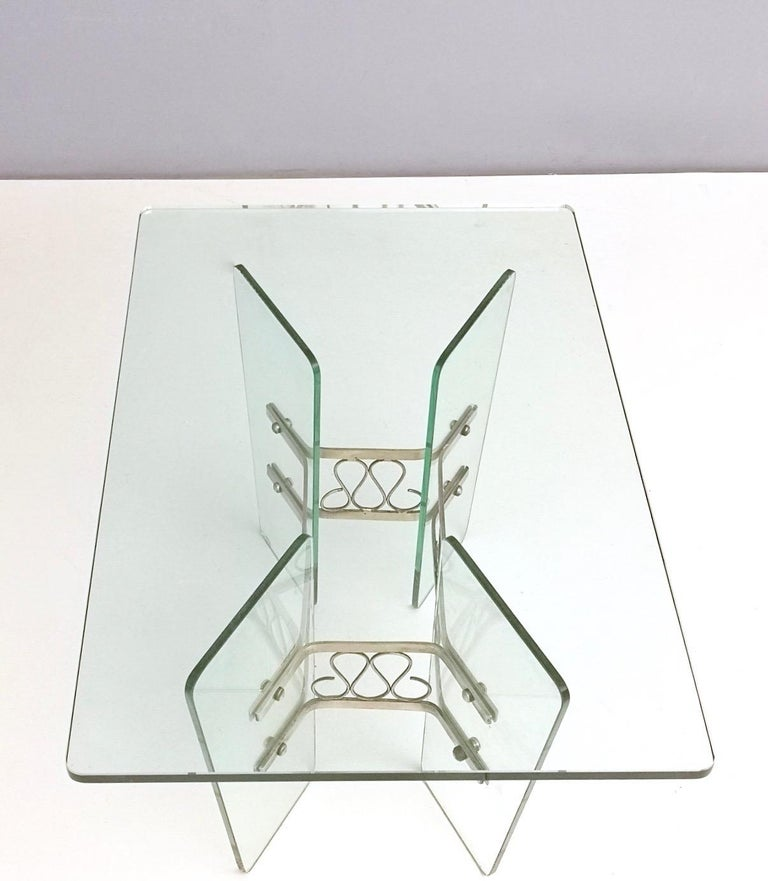 Rectangular Glass Coffee Table by Pietro Chiesa for Fontana Arte, Italy For Sale 2
