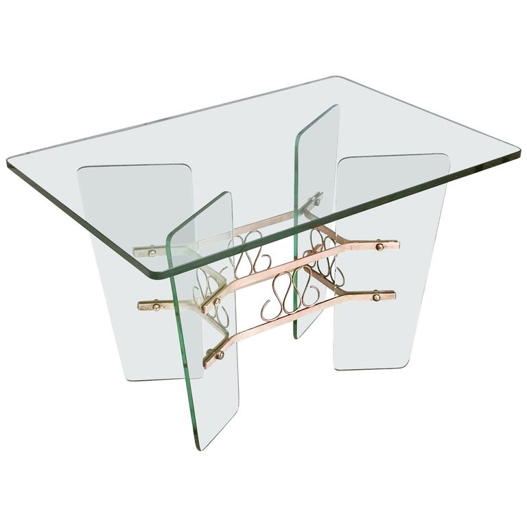 Rectangular Glass Coffee Table by Pietro Chiesa for Fontana Arte, Italy For Sale
