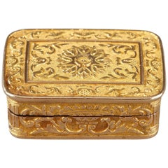 Rectangular, Gold Vinaigrette, Early 19th Century