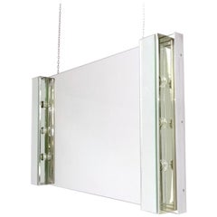Rectangular Illuminated Wall Mirror by Veca, Italy, 1970s