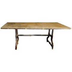 Rectangular Industrial Dining Table, USA, 1900